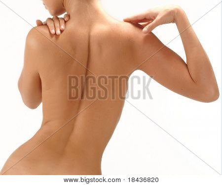nude of young girl - body part
