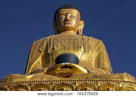 Buda sculpture monkey temple in khadmandu, Nepal