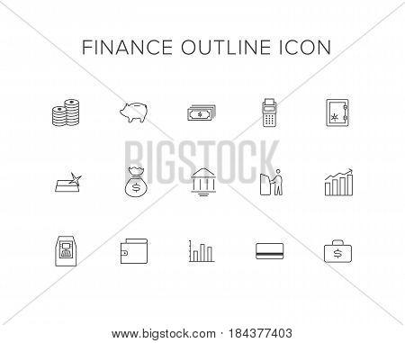 Finance Line Icon Set. Outline Icon set