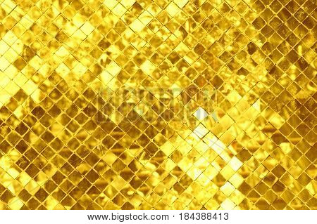 Mosaic golden and glittering mosaics for the background.