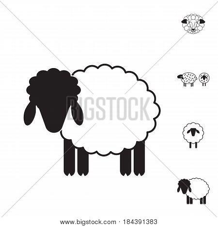 Sheep or Ram Icon Logo Template Pictogram. Trendy Simple Lamb or Ewe Symbol for Market Internet Design Decoration
