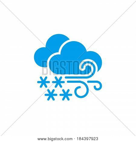 Blizzard weather icon isolated on white background .