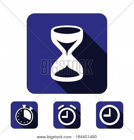 hourglass icon stock vector illustration flat design