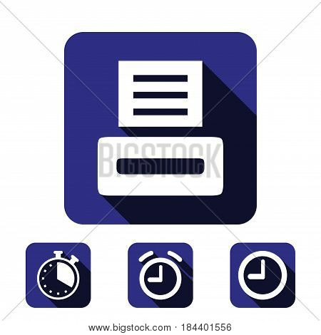 print icon stock vector illustration flat design