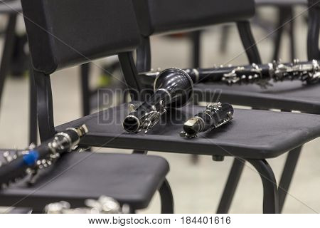 the clarinet staging section of the concert arrangement
