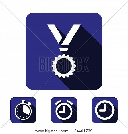 medal icon stock vector illustration flat design
