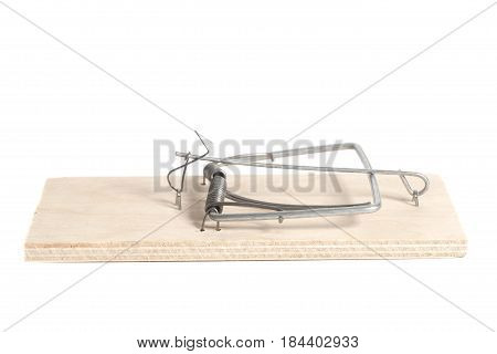 mousetrap isolated on a white background .