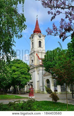 Kikinda town Serbia catholic church landmark architecture
