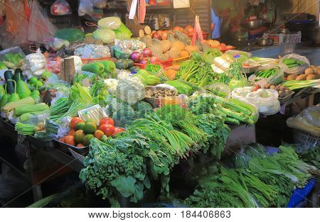 Third market fresh vegetable  in Taichung Taiwan