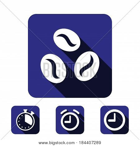 Coffee beans icon  stock vector illustration flat design