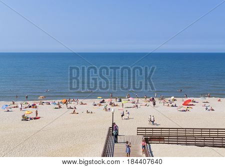 Yantarny Village, Russia: Sandy Beach On Coast Of Baltic Sea