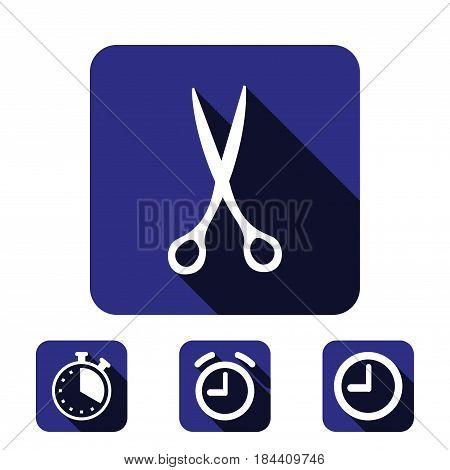 scissors icon stock vector illustration flat design