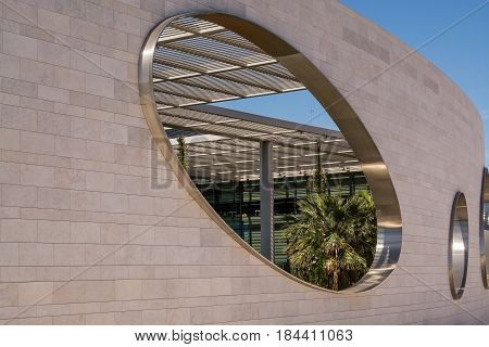 Lisbon Portugal. 29 March 2017.Champalimaud center in Lisbon Champalimaud center is a premium place for science medical and biological research. Lisbon Portugal. photography by Ricardo Rocha.
