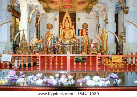 Kandy, Sri Lanka - 16 December 2004: Sri Dalada Maligawa Tempel at Kandy on Sri Lanka