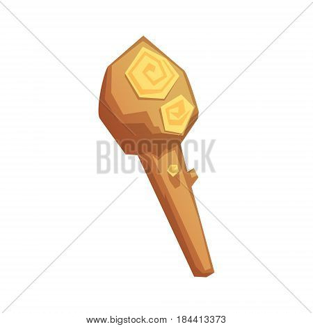 Truncheon of stone age, vector illustration isolated on a white background