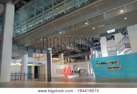 TAICHUNG TAIWAN - DECEMBER 10, 2016: Unidentified people visit National Taiwan museum of fine arts. National Taiwan museum of fine arts is the the only national grade fine arts museum in Taiwan.