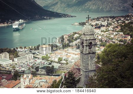 Kotor, Montenegro. Bay Of Kotor Bay Is One Of The Most Beautiful Places On Adriatic Sea, It Boasts T