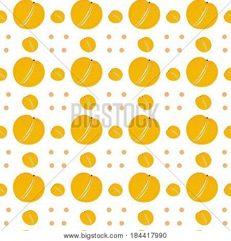 apricots on a white background, seamless pattern with orange fruits, hand drawn pattern, apricot vector, hand drawn apricots