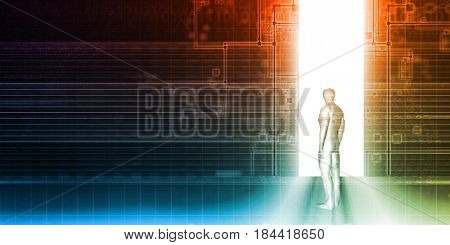 Security System and Access Control of Private Data 3D Illustration Render