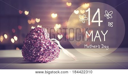Mother's Day Message With A Pink Heart