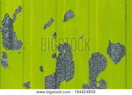peeling paint on galvanized sheet flat texture background
