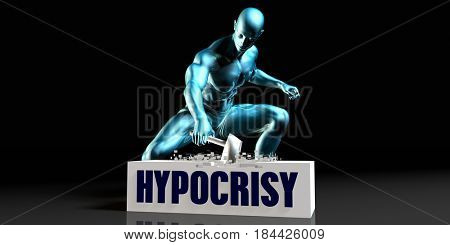 Get Rid of Hypocrisy and Remove the Problem 3D Illustration Render