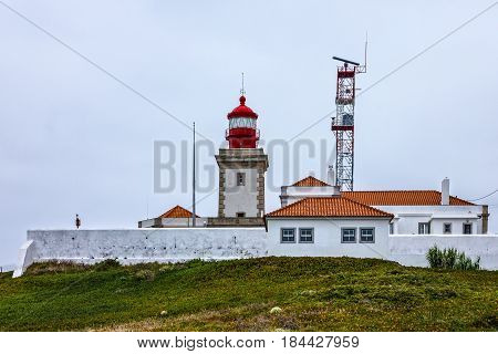 Lighthouse in Cabo da Roca, Lisbon, Portugal