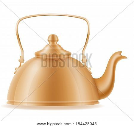kettle old retro vintage icon stock vector illustration isolated on white background
