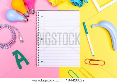 Notepad With Objects