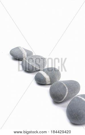 Row of ,striped gray stones