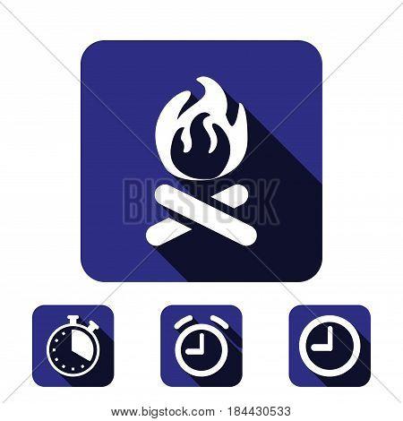 fire icon stock vector illustration flat design