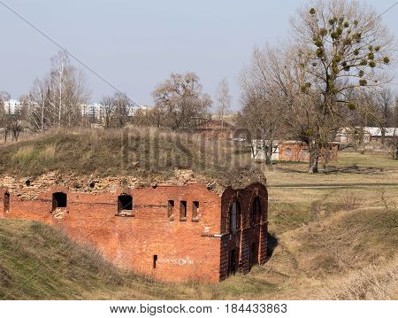 Ancient Red Brick Building