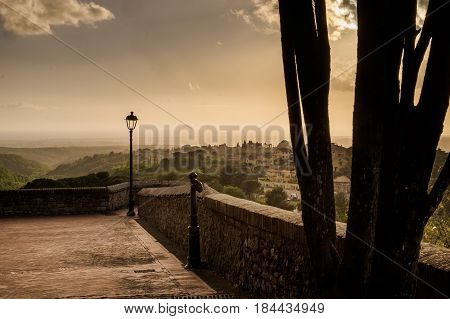 Montescudaio, Pisa, Tuscany, Italy, View Of The Ancient Village