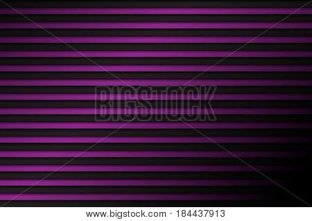 Black and purple abstract background horizontal lines with shadow vector illustration