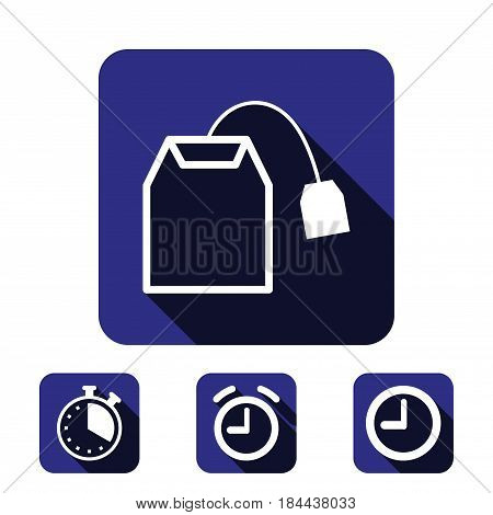 tea bag icon stock vector illustration flat design