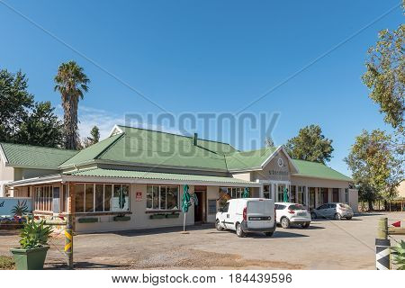 STORMSVLEI SOUTH AFRICA - MARCH 26 2017: A farm stall and restaurant at Stormsvlei a hamlet in the Western Cape Province