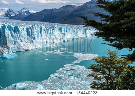 The Perito Moreno Glacier in Glaciares Parque National outside El Calafate, Argentina
