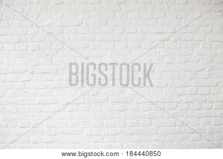 Background of white bricks, white plastered wall, white brickwall surface
