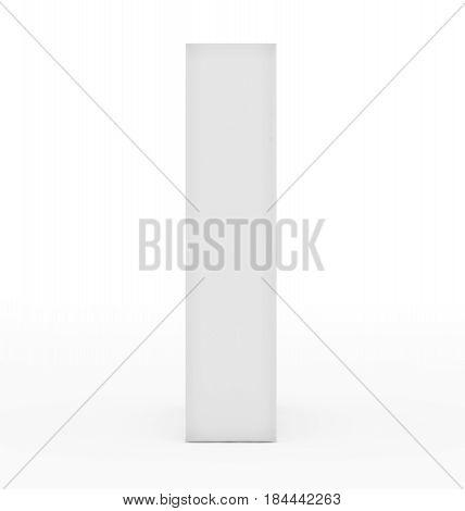 Letter I 3D White Isolated On White