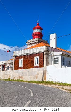 Lighthouse at Cabo da Roca Portugal the most west cape of continent