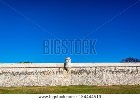 Defensive Wall In Campeche, Mexico