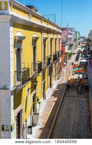 Pedestrian Street In Campeche, Mexico