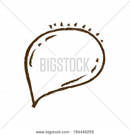monochrome hand drawn silhouette of oval speech vector illustration