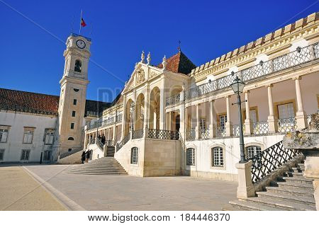 Architecture of the University of Coimbra Portugal