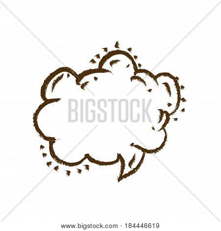 monochrome hand drawn silhouette of speech in shape of cloud vector illustration