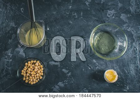 Chickpea Liquid Water Brine Draining. Vegan Aquafaba.