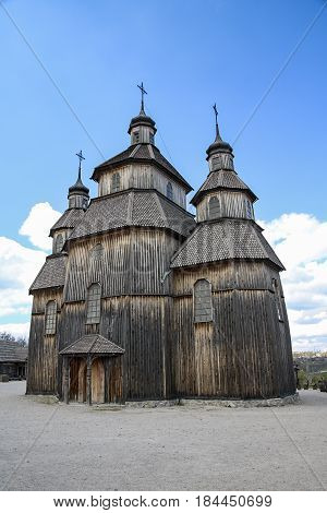 Church museum in the Cossack fortress on the island of Hortica in Zaporozhye