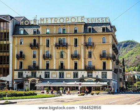 Metropole Suisse Hotel In Como (hdr)
