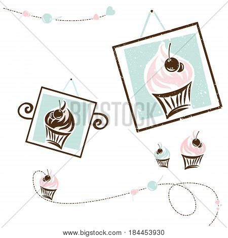 Cake Design Collection For Cafe and Shop