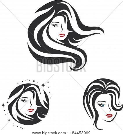 Collection of Beauty Woman Face and Hair